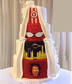 کیک عروسی عجیب دو چهره
