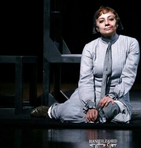 گریم وحشتناک یکتا ناصر در تئاتر مردگان بی کفن و دفن