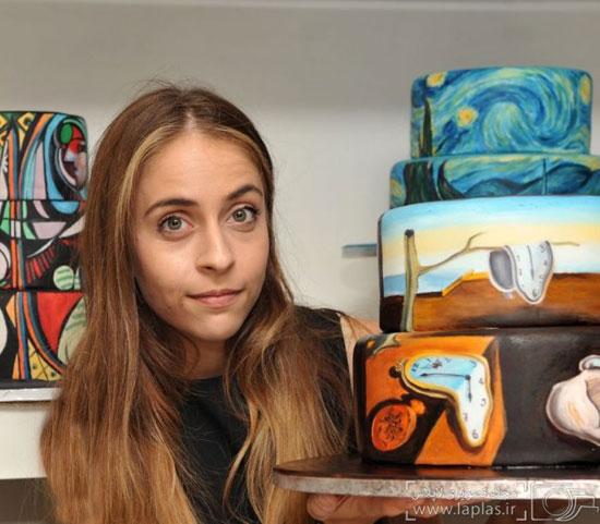 وقت کیک ها به دست یک هنرمند تبدیل به بوم نقاشی میشود