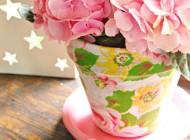 گلدان زیبا و بازیافتی با سلیقه خودتان