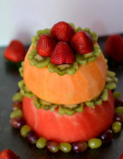 آموزش تصویری تهیه دسر کیک میوه ای