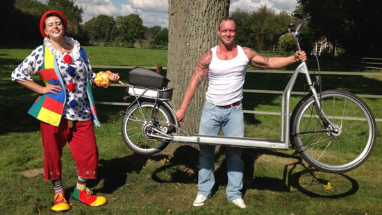 دوچرخه جالبی که میشود با آن پیاده روی کرد
