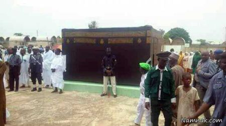 جنجال پخش تصاویر ساخت کعبه جعلی در نیجریه