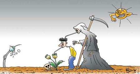 کاریکاتورهای اجتماعی تزریق مواد مخدر