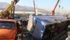 فاجعه 35 مجروح در تصادف اتوبوس خانوادگی زائران مشهد
