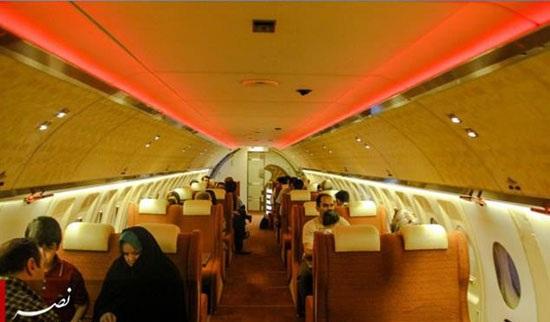 تصاویر جالب از رستوران ایرانی در داخل هواپیما