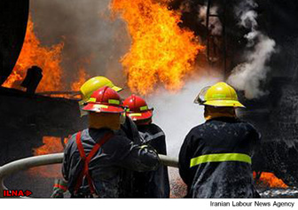 تصویر آتش سوزی در فرودگاه مهرآباد