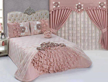 شیک ترین مدل تزیین اتاق خواب عروس با گل های طبیعی 2015