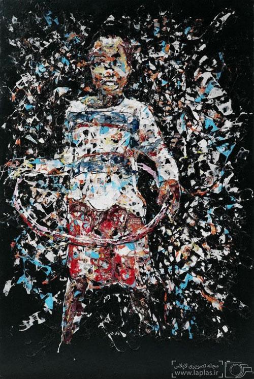 نقاشی های خارق والعاده و زیبا با ضایعات پلاستیکی