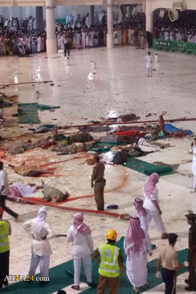 جدیدترین اخبار و تصاویری از سقوط مرگبار جرثقیل در مکه