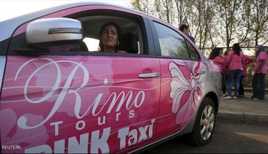 تصاویر تاکسی های صورتی زنان مصری