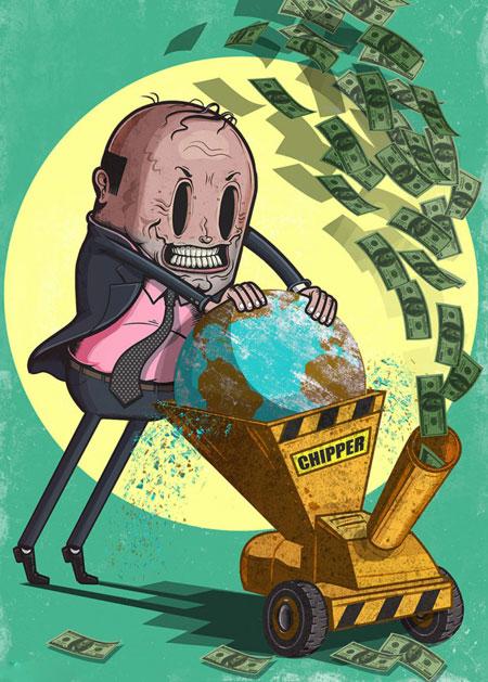 کاریکاتور های آموزنده از حقایق جامعه و زندگی مدرن