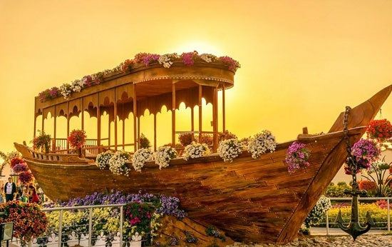 تصاویری از زیباترین و بزرگترین باغ گل جهان در دبی