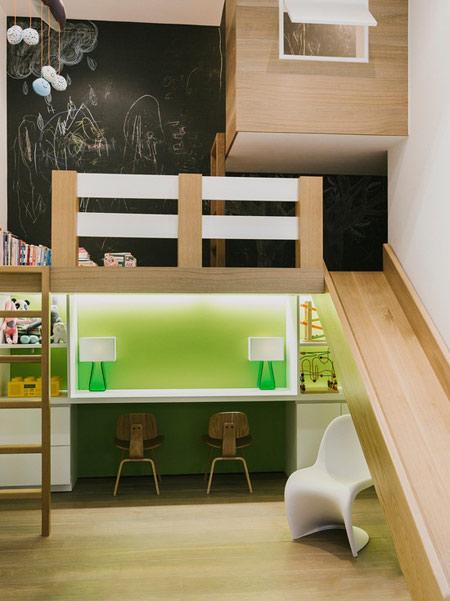 ایده های خلاقانه سرسره بازی در فضای اتاق کودک و خانه
