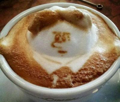 تصاویری از  خلاقیت هنرنمایی با قهوه و شیر