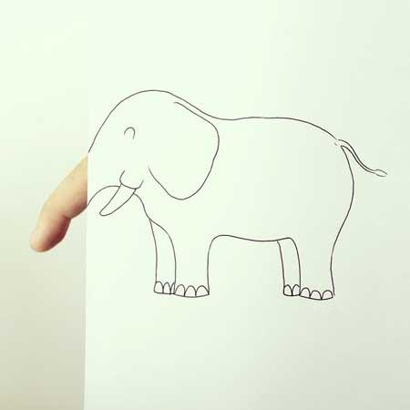ترکیب  انگشتان دست و نقاشی