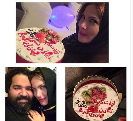 تصاویر جشن تولد همسر زیبای رضا صادقی با اشعار عاشقانه