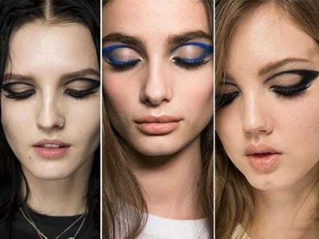 نمونه های جدید آرایش صورت لایت و غلیظ 2015