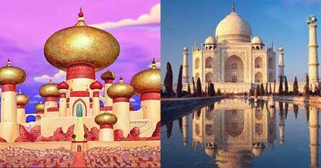 مکان های واقعی در دنیای  انیمیشنی دیزنی