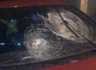 سقوط سنگ روی پورشه زن تهرانی در جاده هراز