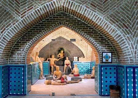 تصاویر باستانی از حمام قجر قزوین