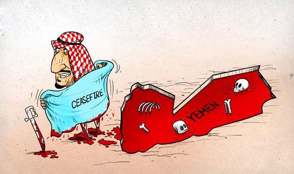 کاریکاتور تاسف بار حادثه منا