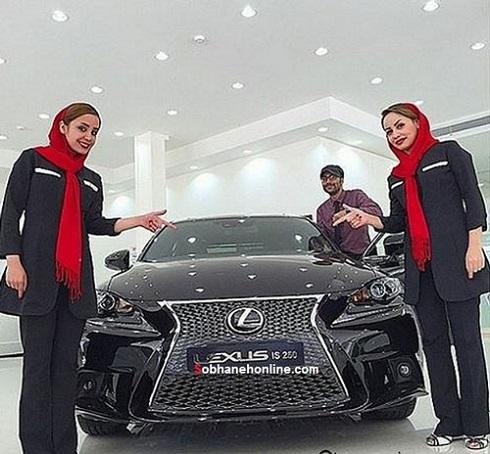 تصاویر مدلهای خانم برای تبلیغ فروش لکسوس در ایران