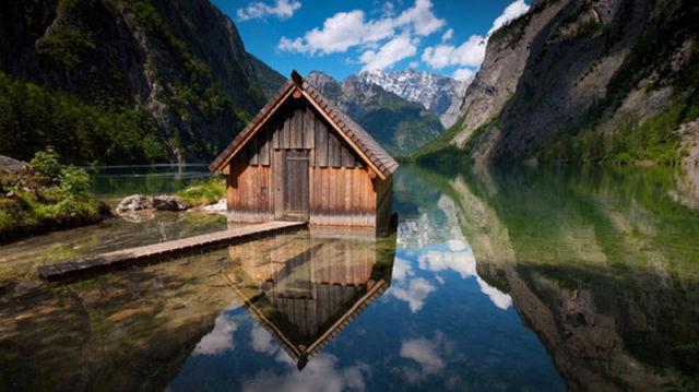 عکس های جالب و دیدنی کلبه های چوبی در طبیعت