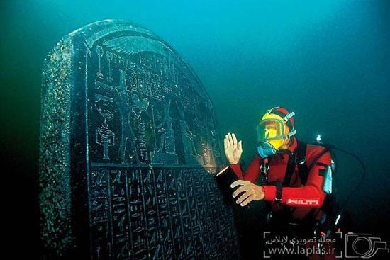 تصاویر و آشنایی با شهر مصری 1500 ساله زیر دریا