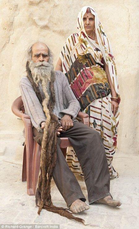 این مرد هندی 35 سال به حمام نرفته است