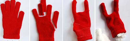 طرز ساخت تصویری کاردستی هیولا با دستکش
