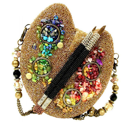 مدل کیف زنانه مجلسی تزیین شده با جواهرات