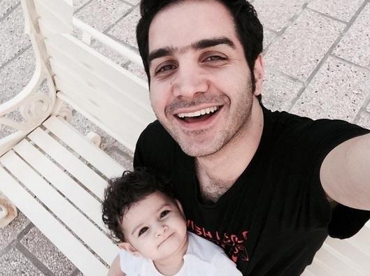 عاشقانه های سلفي های زیبای محسن یگانه و دخترش