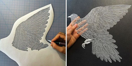 مجسمه های خلاقانه کاغذی بسیار ظریف و زیبا