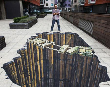 جدیدترین نقاشی های سه بعدی خیابانی 2015
