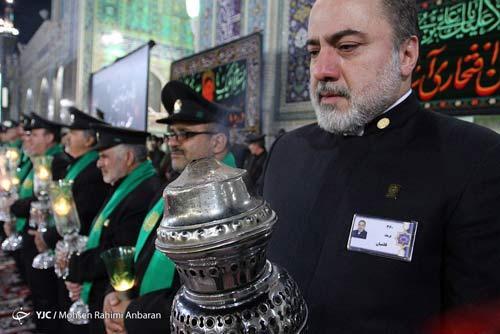 بازیگر مشهور خادم امام رضا شد + تصاویر