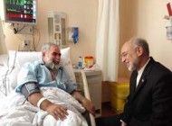 عیادت صالحی از حسینیان پس از تهدید وی به اعدام ! + تصاویر