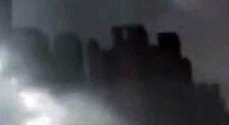 جنجال دیده شدن یک شهر معلق در آسمان چین + تصاویر