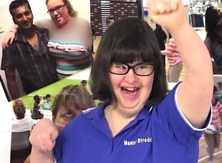 شغل امنیتی و پردرآمد این دختر اوتیسمی ! + تصاویر