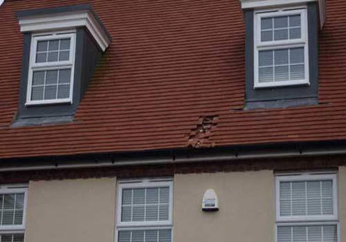 سقف این خانه به خاطر فاضلاب هواپیما فرو ریخت + عکس