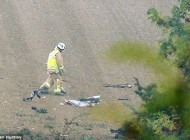 مرگ دو خلبان در آسمان بر اثر صاعقه + تصاویر