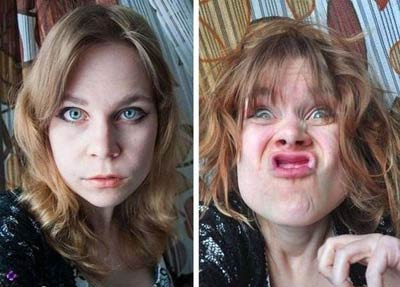 تصاویر خنده دار شکلک درآوردن دختران خوشگل