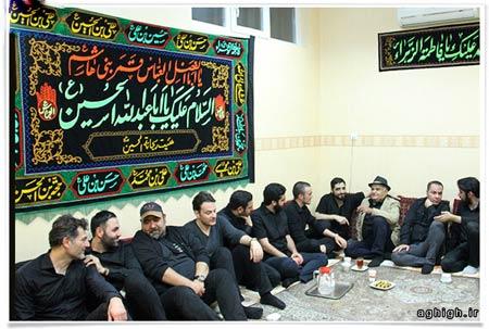 حضور سید احمد خمینی و اکبر عبدی در یک هیئت
