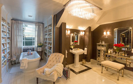 دیزاین زیبا و متفاوت خانه لوکس جنیفر لوپز