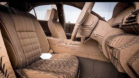 لکسوسی از جنس کاغذ که میتوان با آن رانندگی کرد + تصاویر