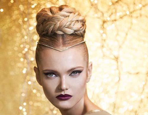 جدیدترین مدلهای بافت و شینیون مو 2015