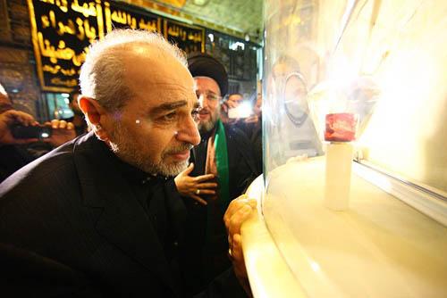 تربت امام حسین در روز عاشورا خونین شد + تصاویر