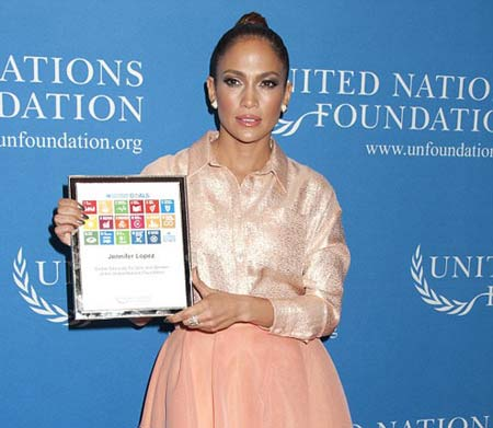 جنیفر لوپز وکیل مدافع جهانی زنان سازمان ملل متحد شد + تصاویر