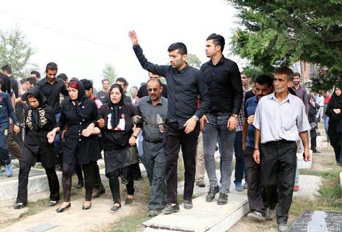 تصاویری دردناک از مزار هادی نوروزی