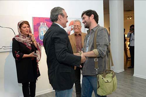 تصاویر جدید شهاب حسینی و همسرش در یک گالری
